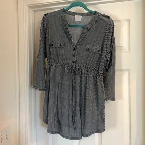 Striped super soft maternity blouse -XL